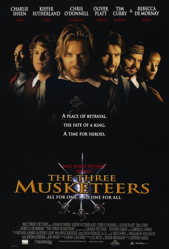 The theatrical poster for Disney's Three Musketeers movie.