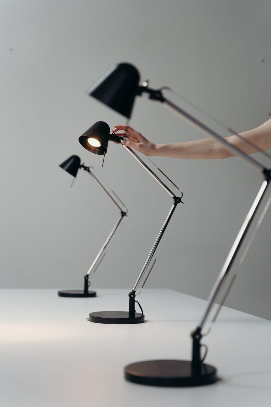 Several desk lamps.