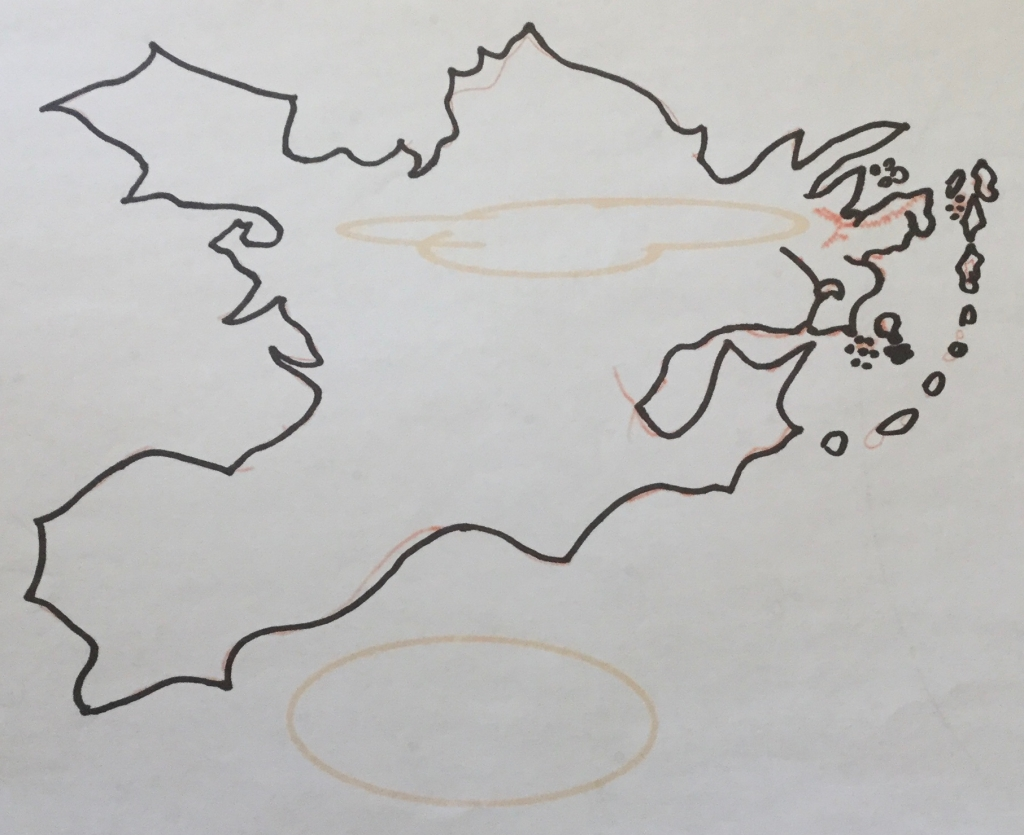 A slightly different map of Realmgard, attempting to follow the advice of those editorial notes.