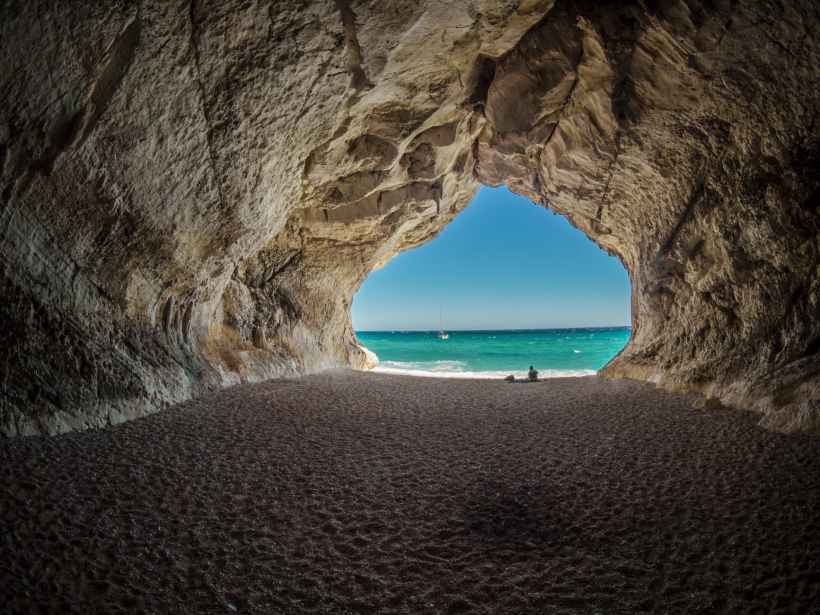 The view from inside a cave looking out to the sea. Pixabay on www.pexels.com