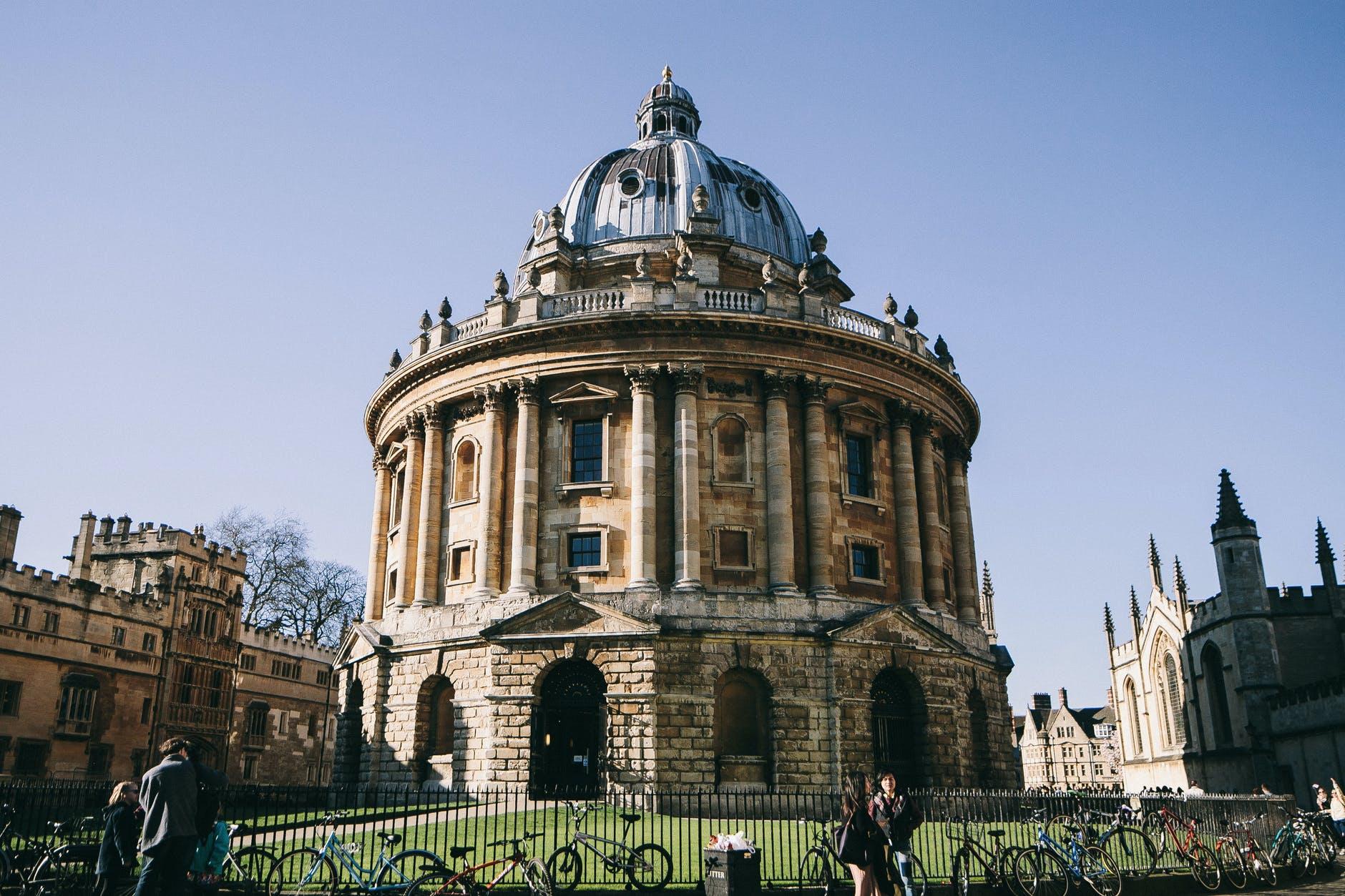 The University of Oxford's Radcliffe Camera building. Photo by Lina Kivaka on pexels.com