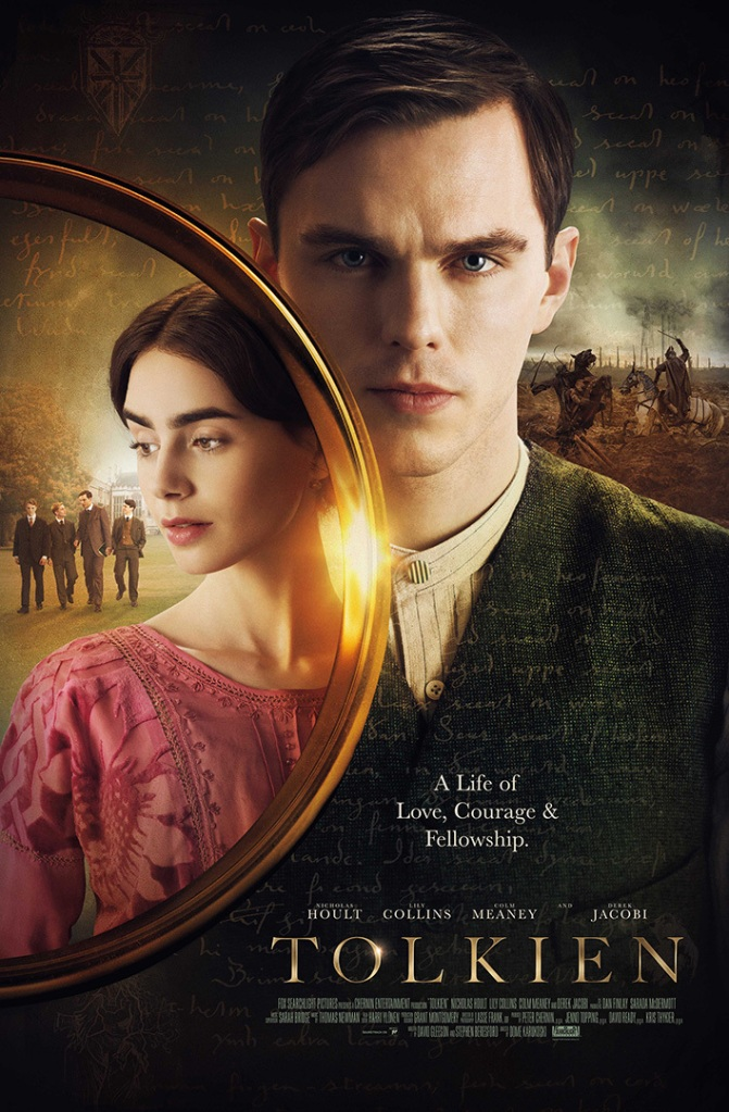 """The theatrical poster for 2019's """"Tolkien""""."""