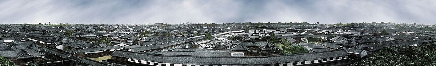 A panoraic shot of Tokyo in the mid-1860s.
