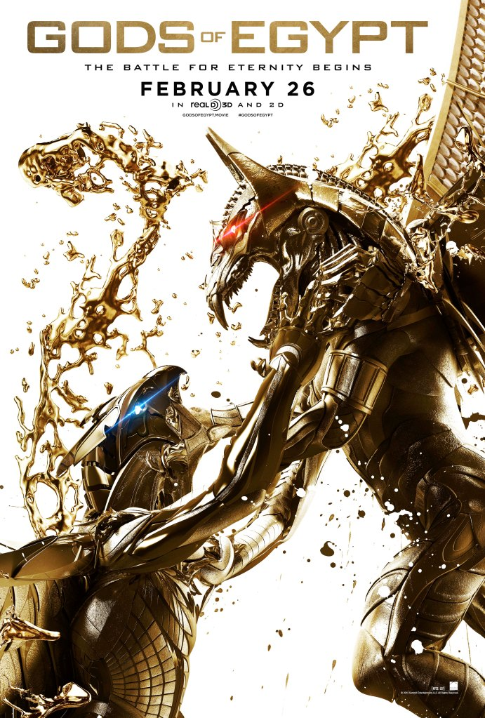 """A theatrical poster for the film """"Gods of Egypt."""""""