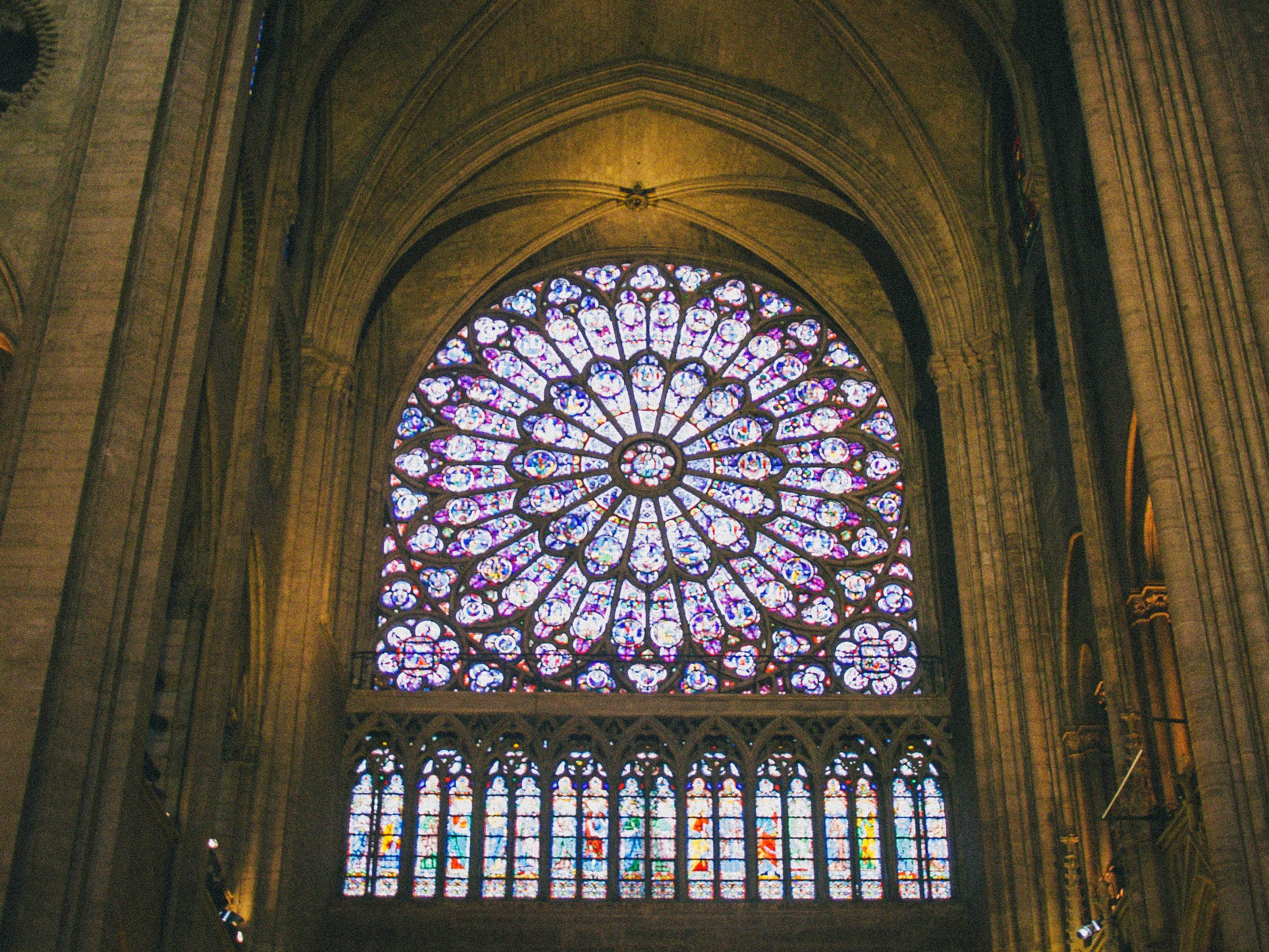 The rose window at Notre-Dame de Paris.