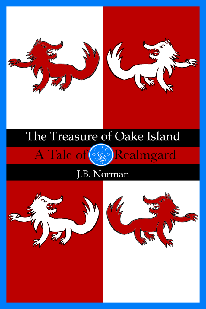 """The cover of the Realmgard story """"The Treasure of Oake Island."""""""
