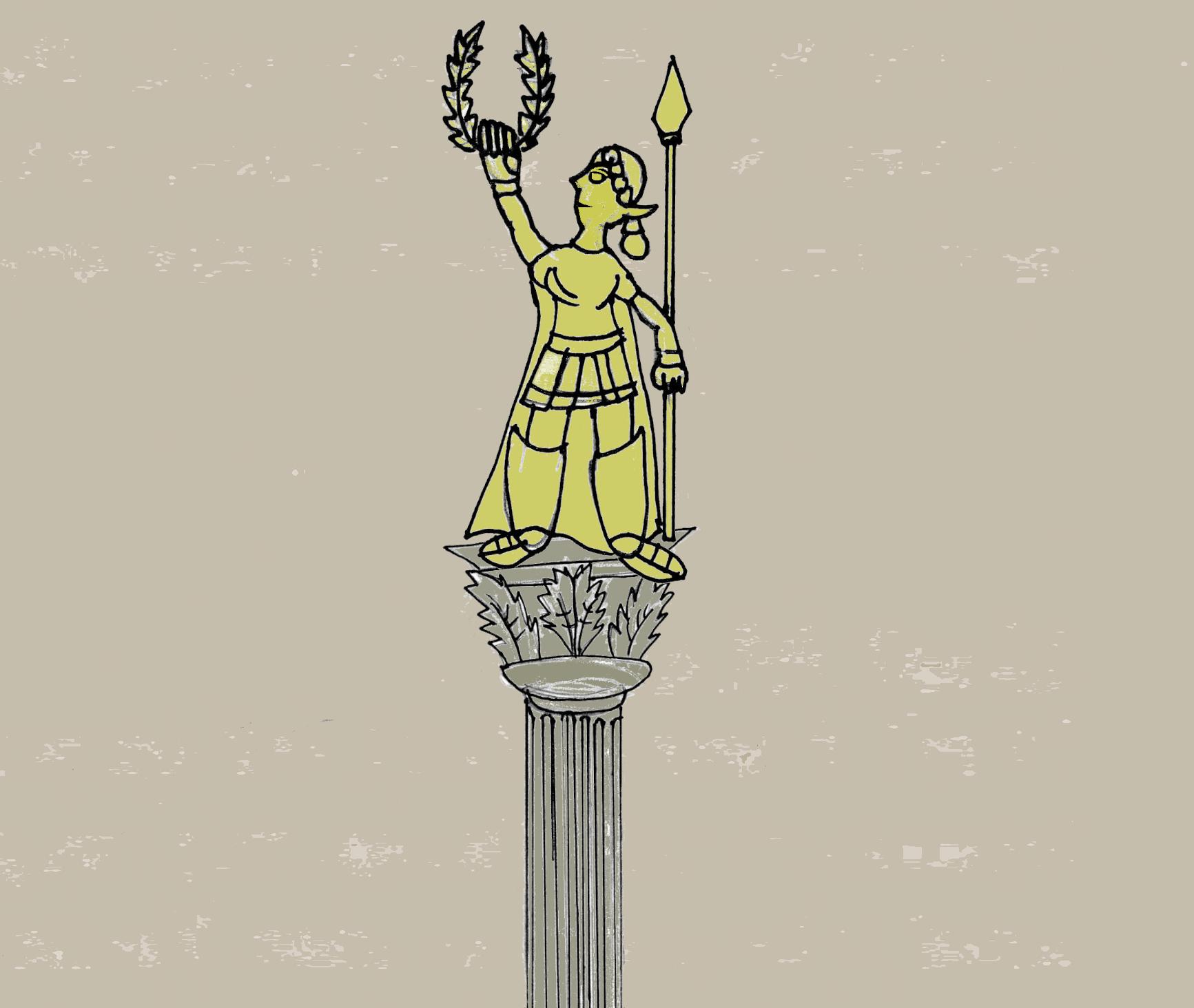A statue of the Amazon goddess Parthene.