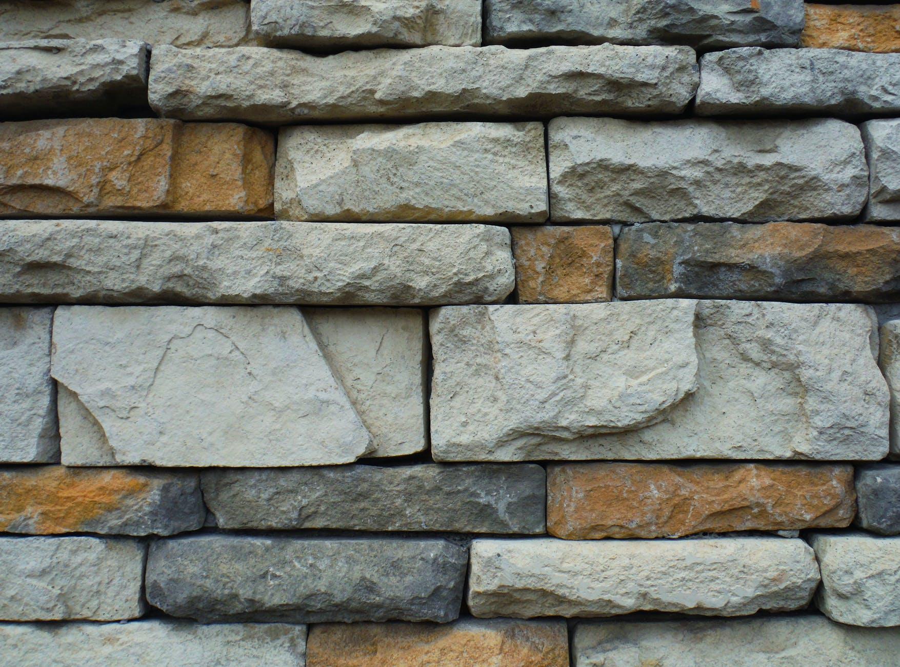A close-up of a brick wall.